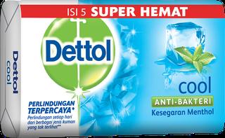 Sabun Anti Bakteri Dettol Cool (4+1 105g)